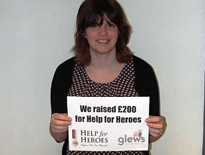 Glews Raises £200 for Help for Heroes