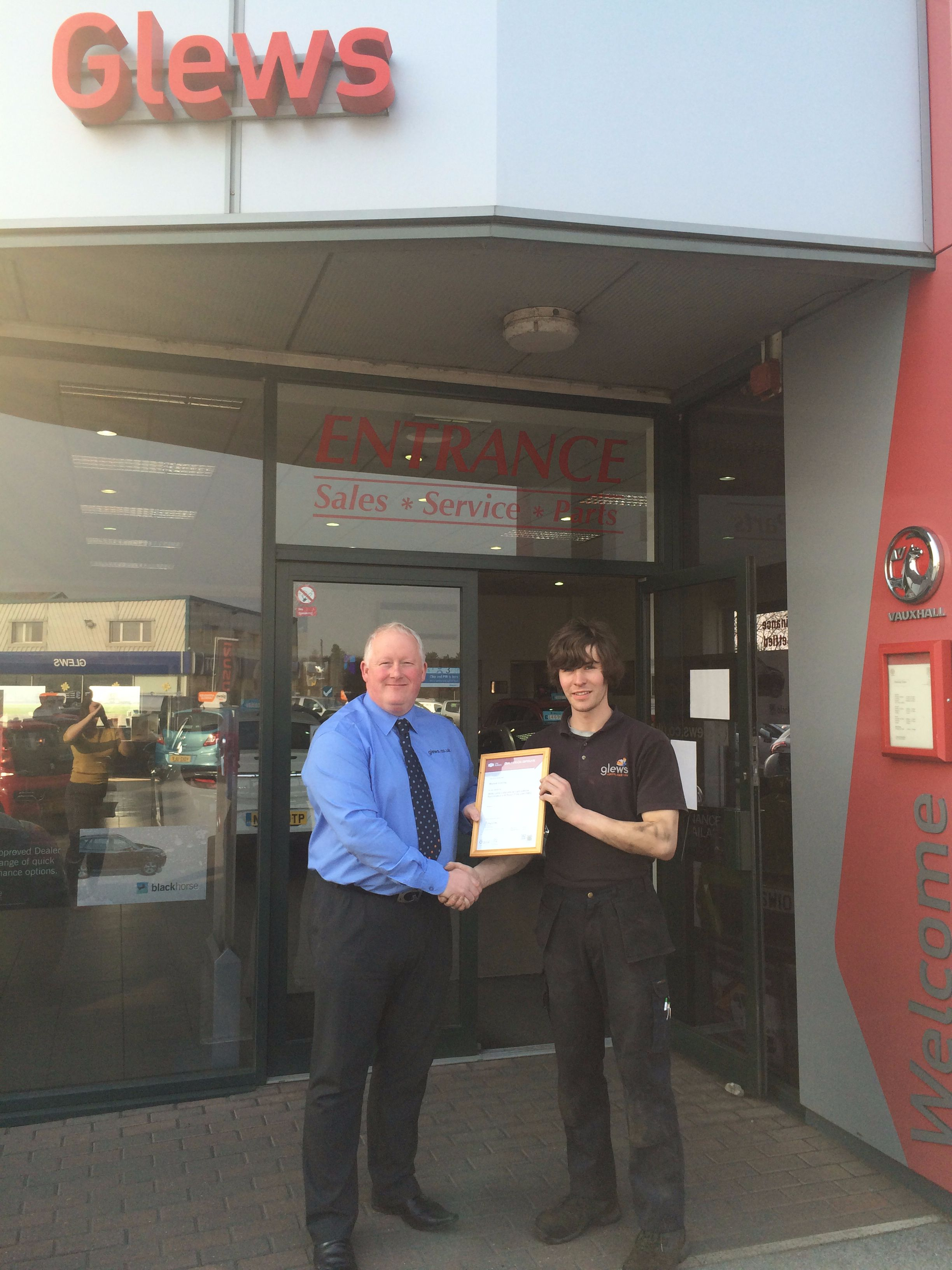 Newly qualified technician at Glews