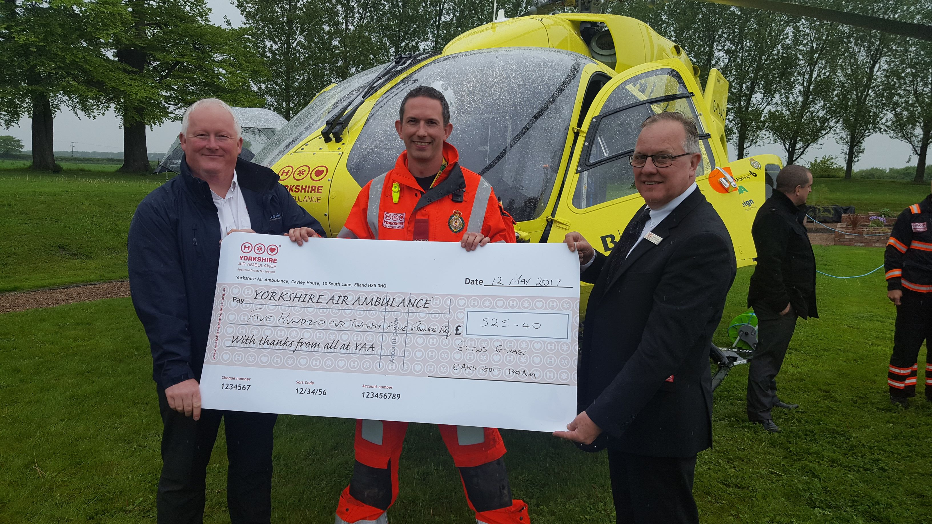 Glews Supporting Yorkshire Air Ambulance